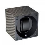 Single Uhrenbeweger Masterbox Carbon Fibre - Black Swiss Kubik